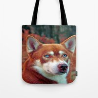 ginger Tote Bags featuring ginger by Doug McRae