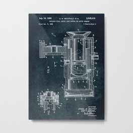 1955 Movie cameras patent art Metal Print