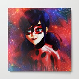 Miraculous Ladybug Spots On Metal Print