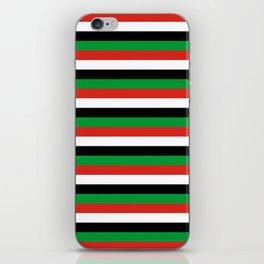 libya Sudan Syria United Arab Emirates Western Sahara flag stripes iPhone Skin