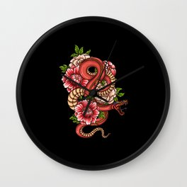 Asian Snake Gift Idea Design Animal Motif Wall Clock