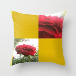 Red Rose with Light 1 Blank Q7F0 Throw Pillow