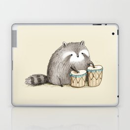 Raccoon on Bongos Laptop & iPad Skin