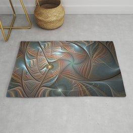 Seeking, Modern Abstract Fractal Art Rug