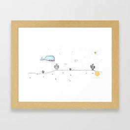 Coffee stories Framed Art Print