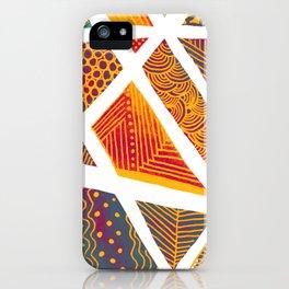 Geometric doodle pattern - multicolor iPhone Case