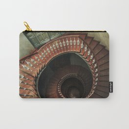 Spiral staircase in red and brown  tones Carry-All Pouch