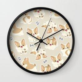 cute corgi pattern  Wall Clock