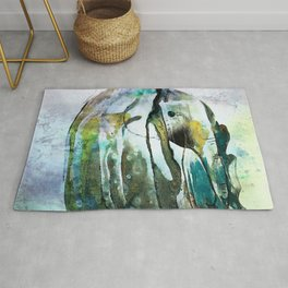Elephant Abstract Rug