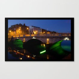Dublin's River Liffey By Night Canvas Print