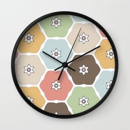 Fall Florals Wall Clock