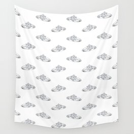 Diamond Engagement Ring Wall Tapestry