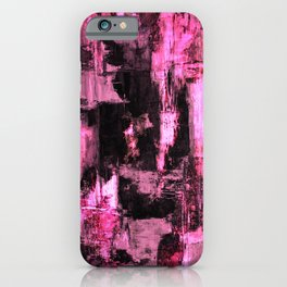 Harsh Pink - Neon Pink Abstract iPhone Case