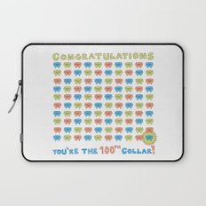 100th Collar! Laptop Sleeve