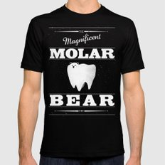 Molar Bear (Gentlemen's Edition) MEDIUM Black Mens Fitted Tee