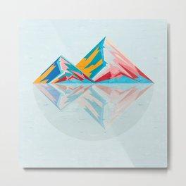 Boho Mountains Metal Print