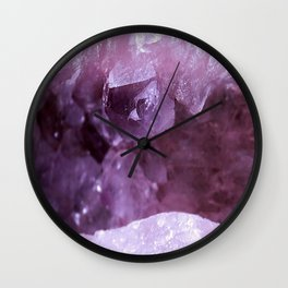 Quartz & Amethyst Wall Clock