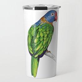 Rainbow Lorikeet Parrot Gift Vibrant Colorful Bird Lover Gift  Travel Mug