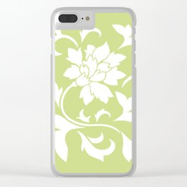 Oriental Flower - Daiquiri Green Clear iPhone Case