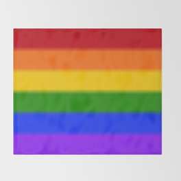 Rainbow Gay Pride Flag Throw Blanket