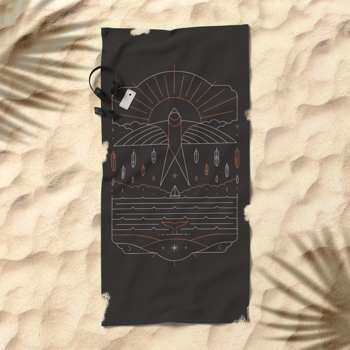 The Navigator Beach Towel