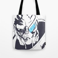 garrus Tote Bags featuring Garrus by Bailey Anderson