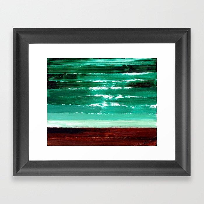 Turquoise Horizon Framed Art Print