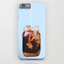 Coffee Swirl- Blue iPhone Case