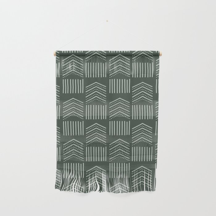 Green Two Toned Tribal Wall Hanging
