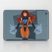 x men iPad Cases featuring Jean Grey / X-Men by Lauren C Skinner