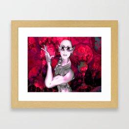 Alien Contact Framed Art Print