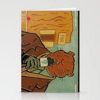 phil jones Stationery Cards featuring Punxsutawney Phil by Derek Eads