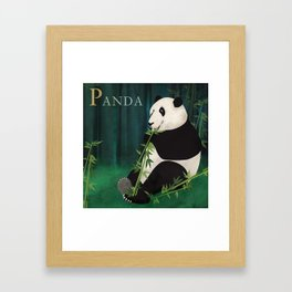 ABC Poster P - Panda Framed Art Print