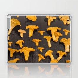 Chantterelles On A Dark Grey Background - Autumn Harvest - #Society6 #buyart Laptop & iPad Skin