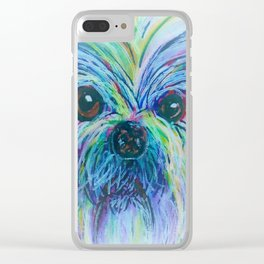 Shih Tzu Dreamy Focus Clear iPhone Case