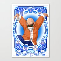 dragonball Canvas Prints featuring DragonBall Z - Human House by Art of Mike