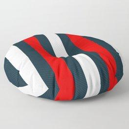Modern Decorative Red White Vertical Pattern Stripes Floor Pillow