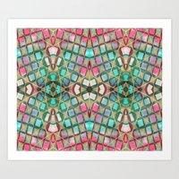 Art Print featuring Border 2 D Pattern 3 by Cie Ja