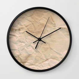 Papered over Wall Clock