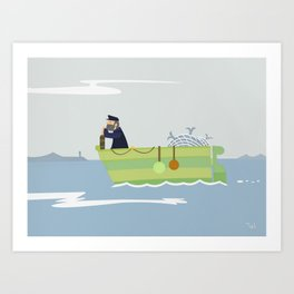 Boat Beach Wall Art, Beach Art Nursery Decor, Nursery Wall Art for Boys Room Art Print