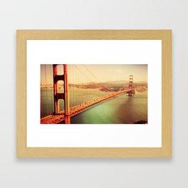 Golden Gate Bride Framed Art Print
