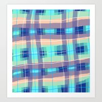 Cabo Plaid Art Print