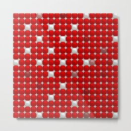 red and white ceramic Metal Print