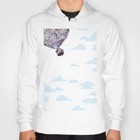 pixar Hoodies featuring disney pixar up.. balloons and sky with house by studiomarshallarts