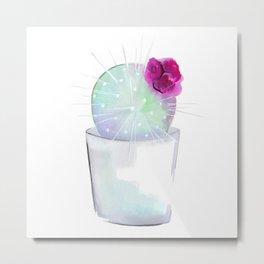 Watercolour Cactus no 1 Metal Print