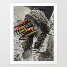 Portrait of a sicilian girl (2014) Art Print