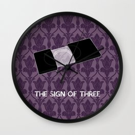 The Sign of Three Wall Clock