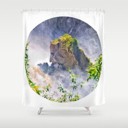 Rock in the falls Shower Curtain