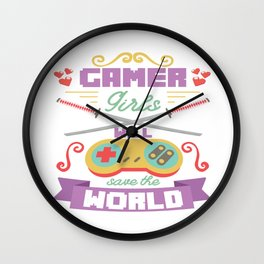 Funny Gamer Gaming Geek Nerdy Accessories Gift Wall Clock