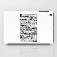 word iPad Cases featuring Word by Etiquette